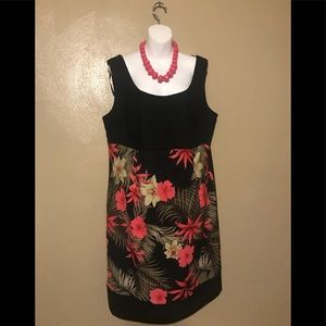 Kim Rogers flower dress 🌺 size 16W, polyester